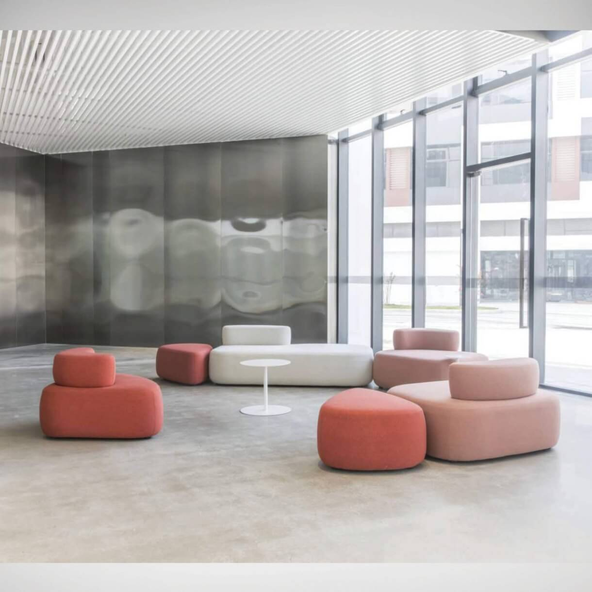 Maintain Safe Social Distance in the Office Reception with Modular Sofas - Comfort Furniture