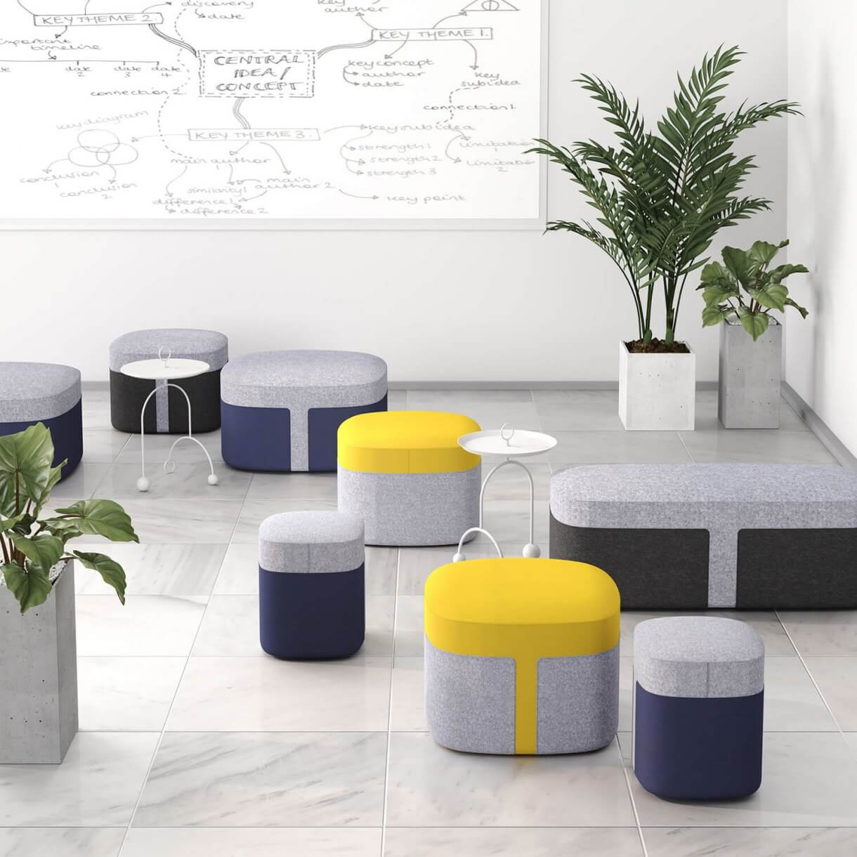 Use Stools For Easy Arrangement to Accommodate Social Distancing - Comfort Furniture