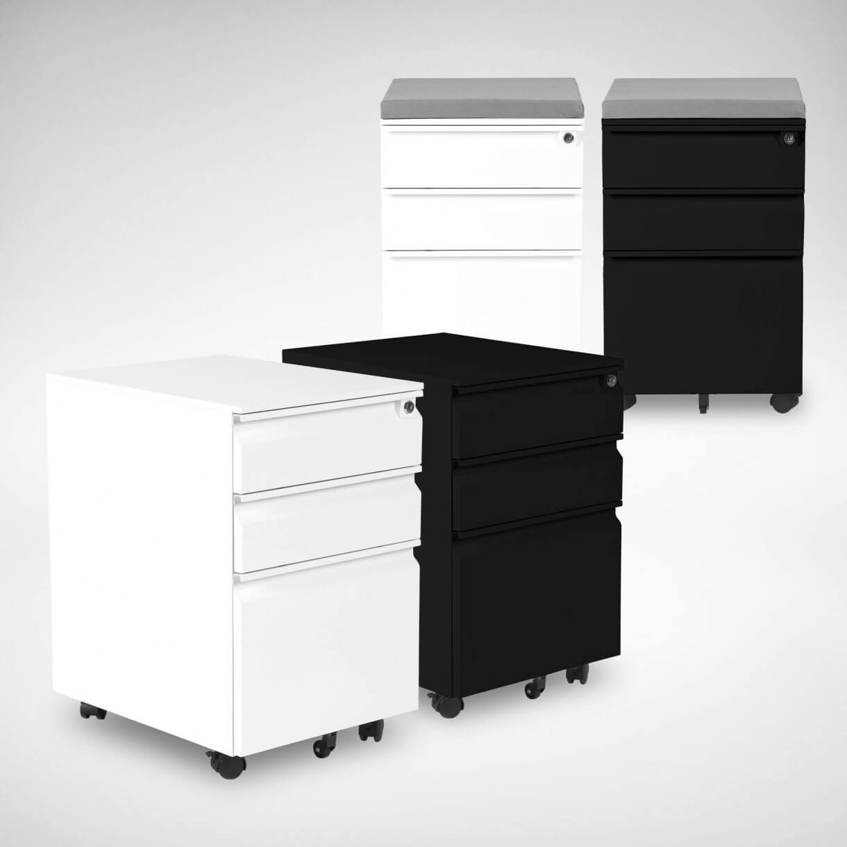 Work From Home with Mobile Pedestal Drawers For Added Storage - Comfort Furniture