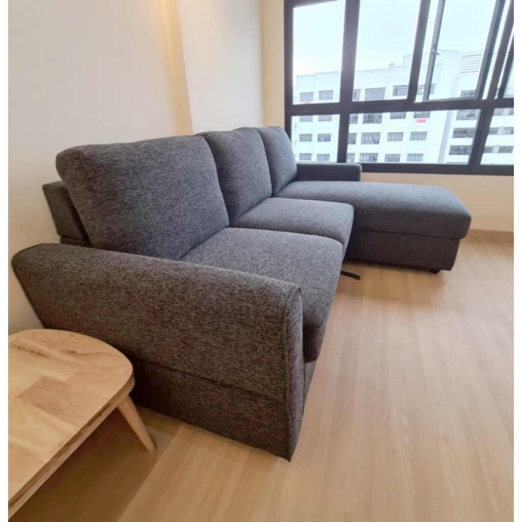 Use L-Shaped Sofa as a Bed for Added Practicality - Comfort Furniture Singapore