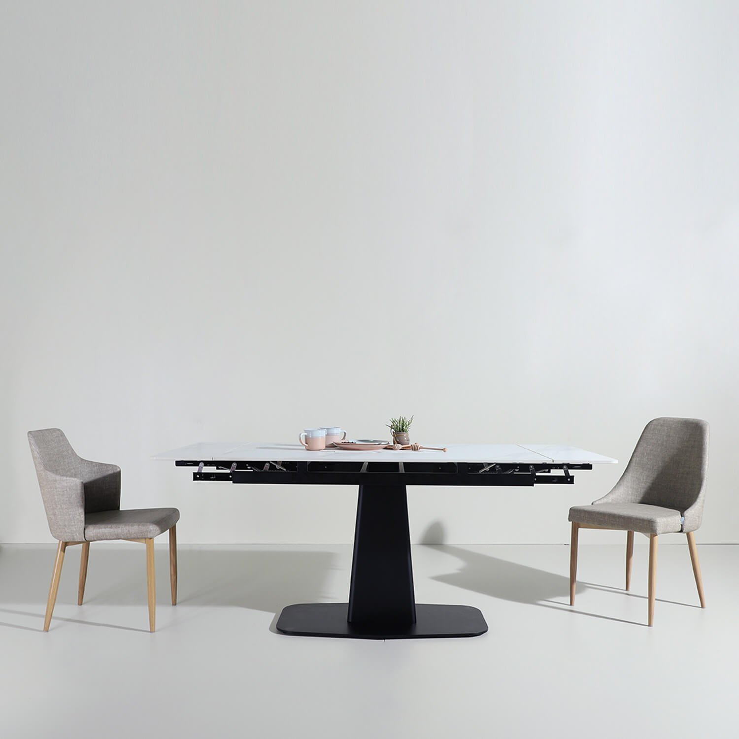 Aesthetic Yet Space-Saving Dining Table with Dining Chair - Comfort Furniture