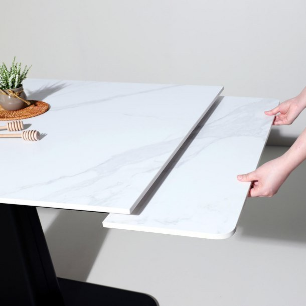 Space-Saving Freya Dining Table is Extendable and Nestable - Comfort Furniture