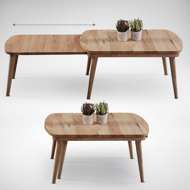 Stretch Wooden Table is Nestable to Free Up More Space When Not in Use - Comfort Furniture