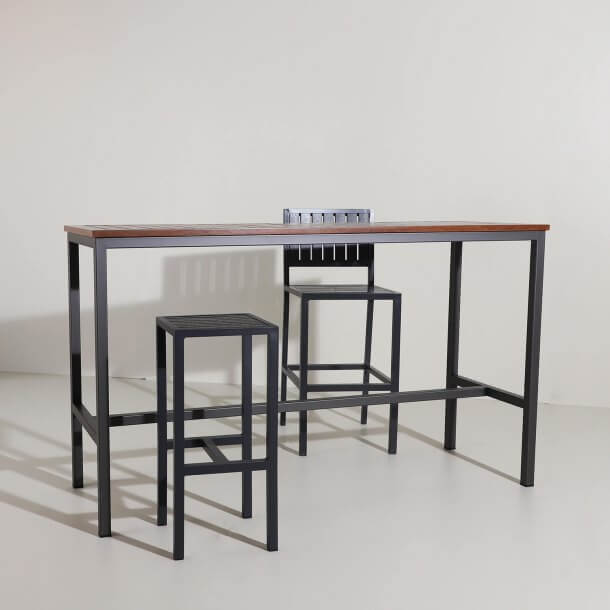 Durable and Quality Hiro Bar Table and Chairs Made of Recycled Materials - Comfort Furniture Singapore