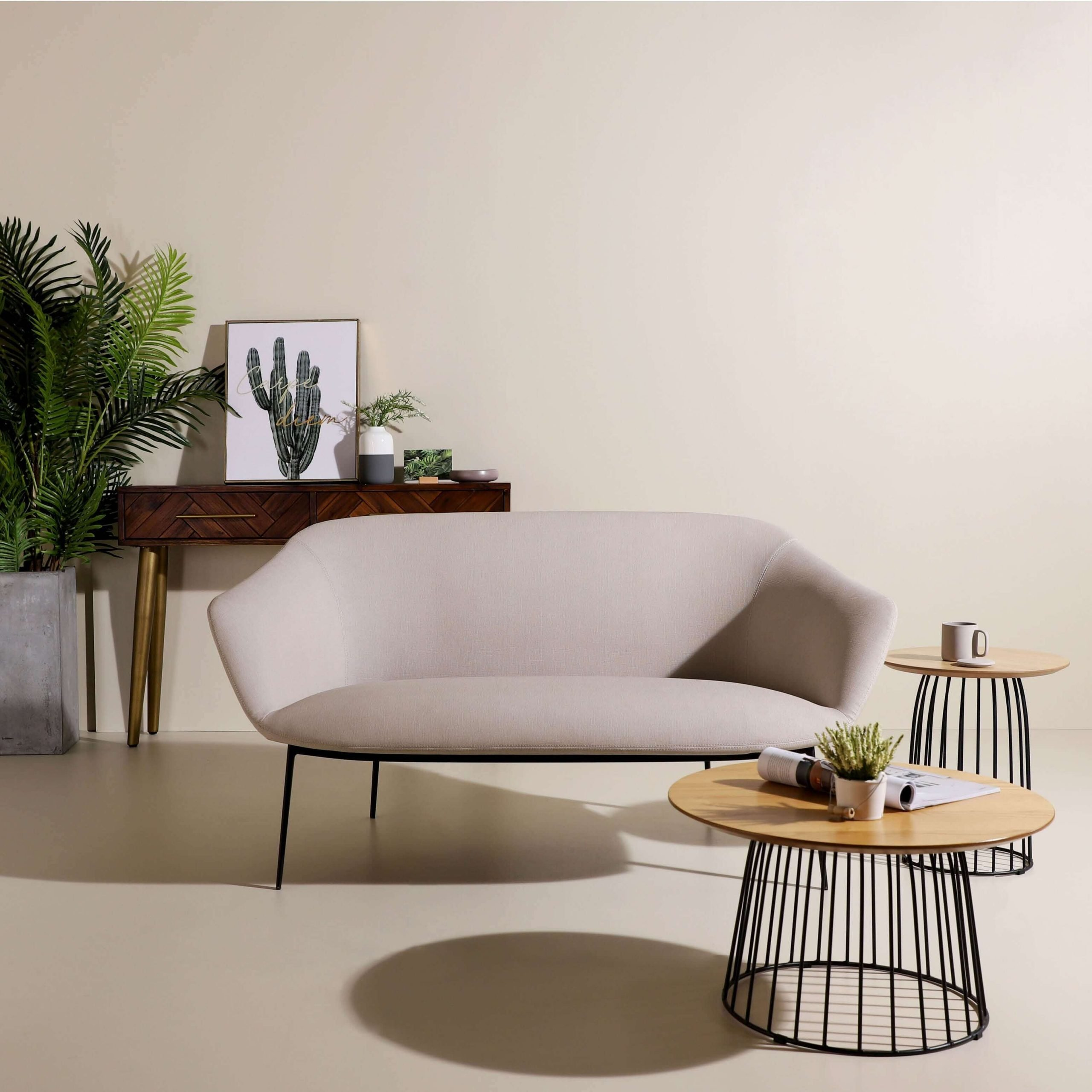 Living Room Mismatched Furniture Trends - Gillian 2 Seater Sofa - Comfort Furniture