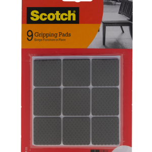 3M Scotch Non-Slip Black Square Gripping Pads