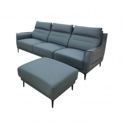 Judi 4-Seater Sofa - Half Leather