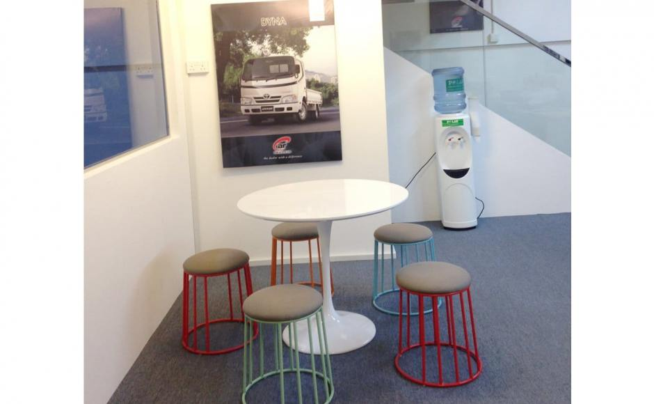 Car (S) Pte Ltd @ Loyang Enterprise Building | Products Seen: Campus Stool & Megan Dining Table V2 – Rd900<br />