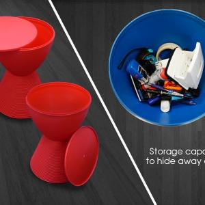 Cup Stool/Side Table (Storage)