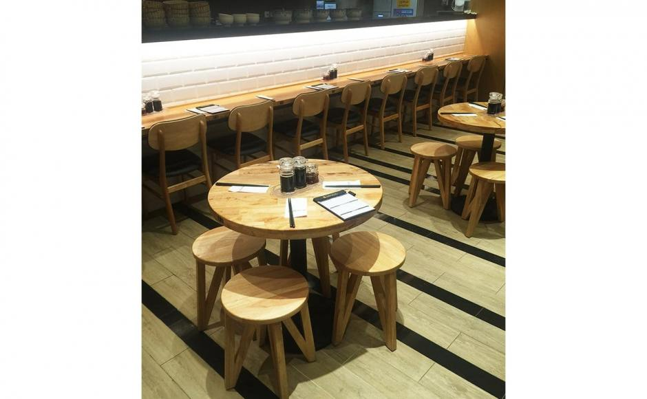 LeNu Taiwan Beef Noodles - Compass One | Product Seen: [Kiki Stool, Duxton Chair & Customised Butcher Tabletop + Cosson Table Base]<br />