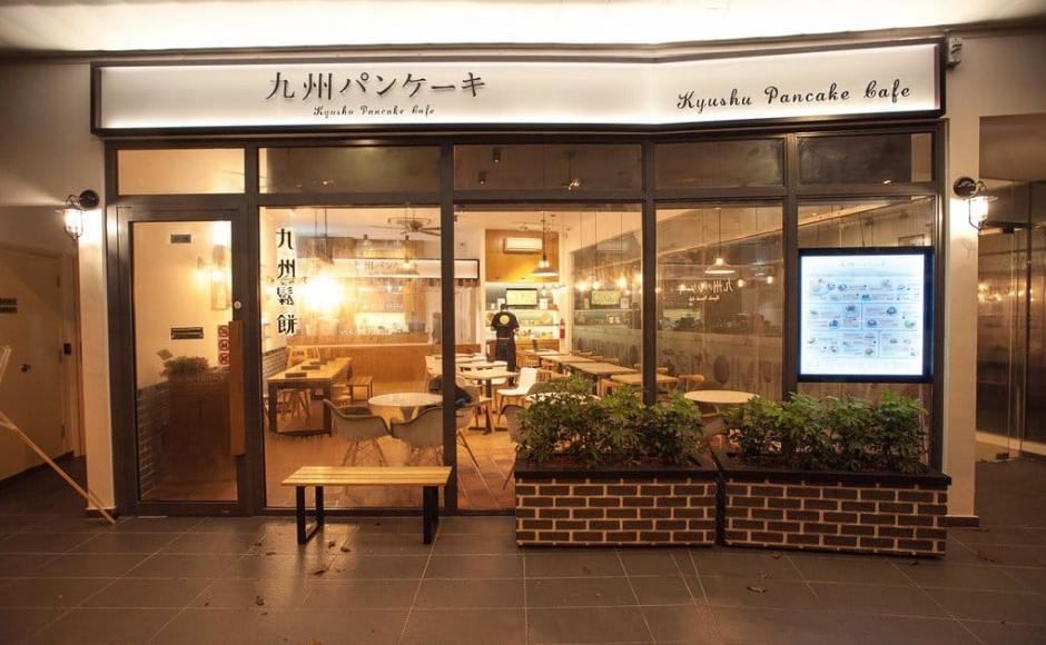 Kyushu Pancake Cafe - Novena | Products Seen: [Customised Bourne Bench - Black Steel, Customised Butcher Blocked Table Top + (Flushed) Uni Table Leg, Customised Table Top + Filo Table Base, Kiki Stool, Gum - Half Fabric + Wood Armchair, Osaka Sidechair & Megan Coffee Table]<br />
