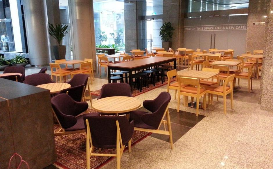 Foodology - URA Centre, Maxwell Road | Products seen: [Tang Stool – Round, Reese PU & Shiraz Armchair]<br />
