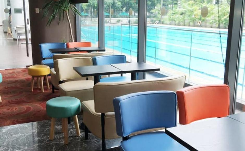3Bars - Chinese Swimming Club | Products seen: [Leopard 1 &amp; 2-Seater Sofa, Tapioca Stool &amp; Customised Table Top in Cosson Table Leg H730]<br />