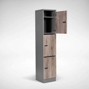 Dolt 3-tier Melamine Locker