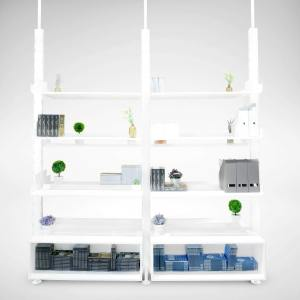 Space Ceiling Hanging Shelf / Divider