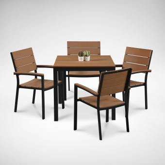 Fossil Square Outdoor Dining Table - Bundle 3