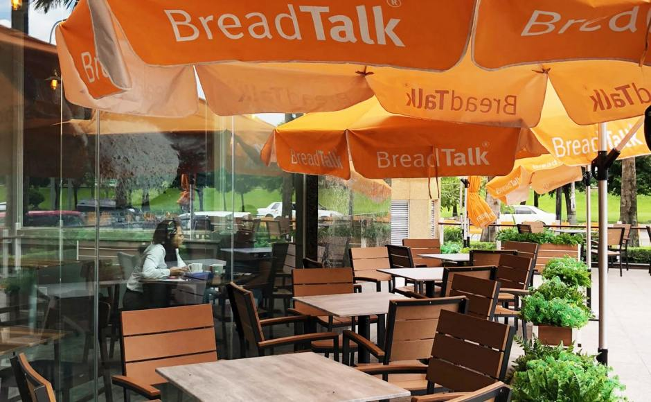 Breadtalk, Myanmar Plaza - Yangon, Myanmar | Product Seen: [Fossil Outdoor Armchair & Isotop - Outdoor Table Top – Cement colour]