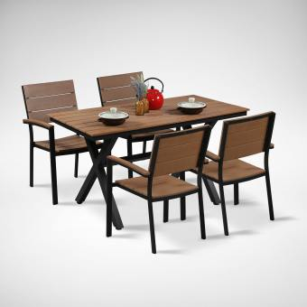 Fossil Rect Outdoor Dining Table - Bundle 2