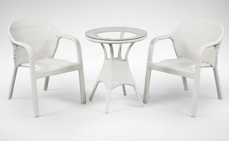 [Jersey Outdoor Armchair & Jude Outdoor Dining Table – Dia600]
