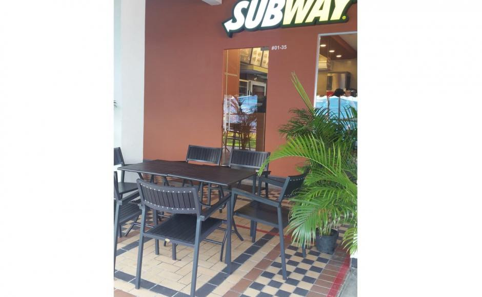 Subway - Ubi | Products Seen: [Hiro Outdoor Folding Table & Warner Outdoor Armchair]<br />