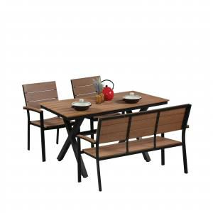 Fossil Rect Outdoor Dining Table - Bundle 4