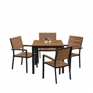 Fossil Square Outdoor Dining Table - Bundle 2