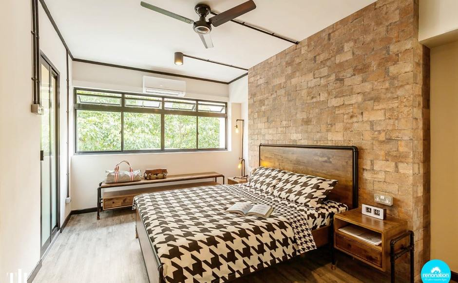 Strathmore Avenue by The Interior Lab   Product Seen: [Pipe Bed Frame, Pipe Bedside Table & Pipe TV Console]<br />