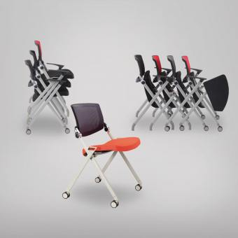 Putra Sidechair with Castors (Nestable)