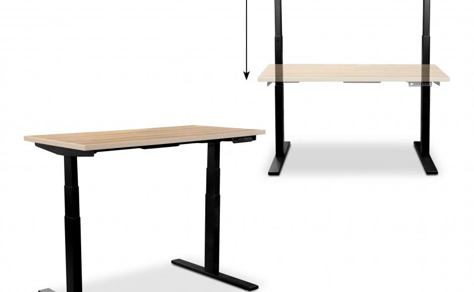 Flo Residences | Product Seen: [Tito 1-Sided Height Adjustable Table - W1200 & Whipp Monitor Arm - Dual]