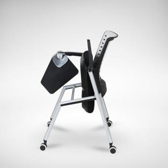 Whiz Tablet Armchair w/ Castors (Nestable)