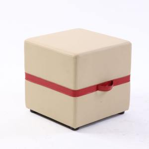 Customised Pouf Stool with Handle