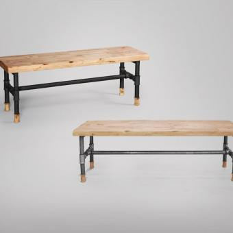 Pipe Dining Bench Customisable