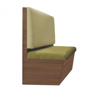 Tapered Backrest Booth (Storage optional)