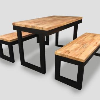 Uni (recessed) Dining Table w/ Butcher Top – Customisable
