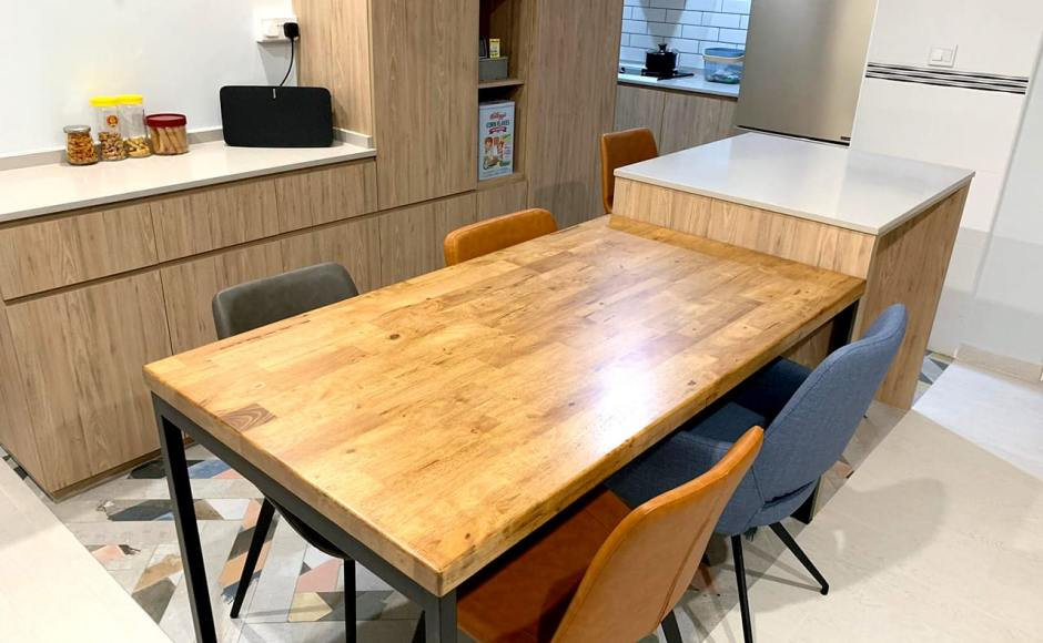 Apartment - Telok Blangah | Product Seen: [Ricky Dining Table w/ Butcher Top – Customisable, Eunice Side chair & Ford Arm chair]