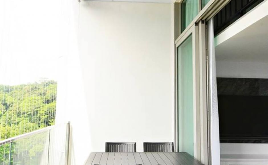 SG Mum Blogger, Ashlyn Thia's home | Products Seen: [Hiro Outdoor Dining Table – Square & Warner Outdoor Armchair]<br />