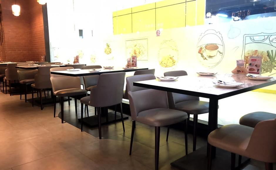Bangkok Cafe - The Move, Mandalay, Myanmar | Product Seen: [Customised Laminate Tabletop + Pyram Table Base - V2 & Grange Sidechair]