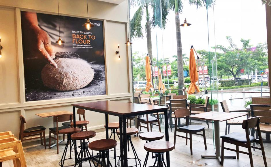 Breadtalk, Myanmar Plaza - Yangon, Myanmar | Product Seen: [Fossil Outdoor Armchair, Ottawa Chair & Isotop - Outdoor Table Top – Indian Rosewood colour]