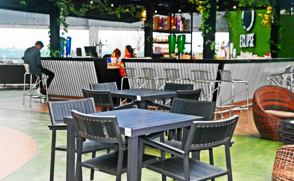 Eclipse Bar & Restaurant, Myanmar Plaza - Yangon, Myanmar | Product Seen: [Warner Outdoor Armchair & Hiro Outdoor Dining Table – Square]
