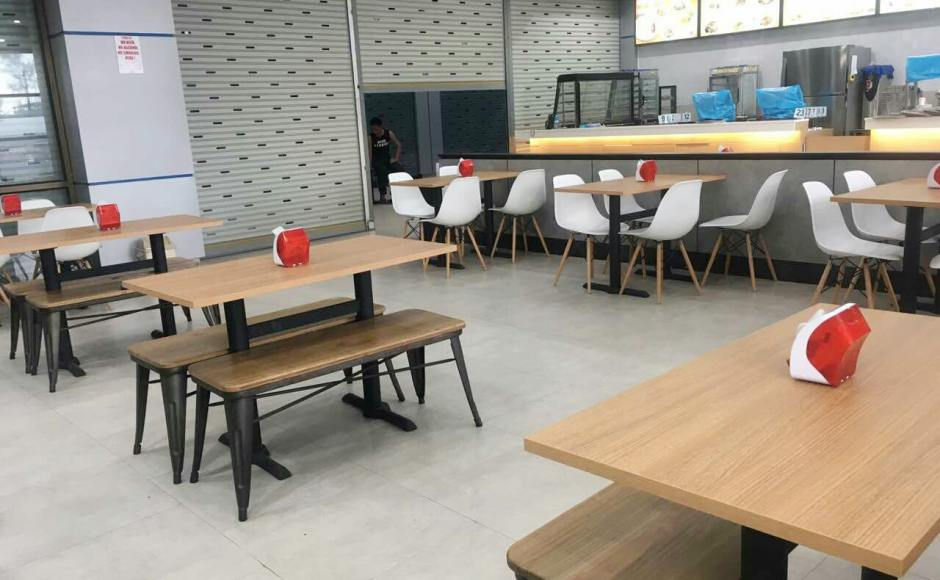 Shwe Palin Restaurant Hlaing Thar Yar Ocean Center, Yangon, Myanmar | Product Seen: [Argo – PP + Tower Chair, Dojo Bench – No Back & Customised Laminate Tabletop + Filo Table Base]<br />