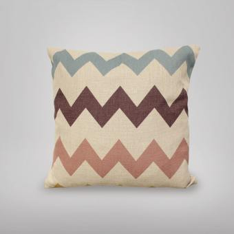 Cushion – Chevron Pink/Blue