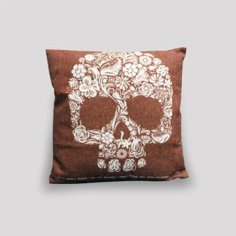 Cushion – Skull – Red