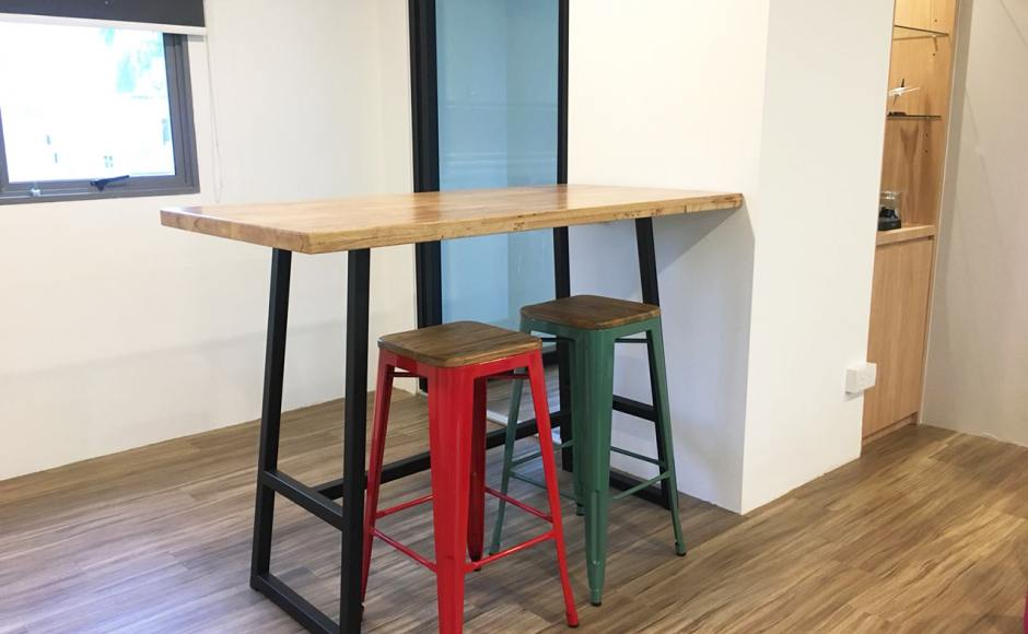 Aerospace Component Engineering Services Pte Ltd | Products seen: [Dojo Barstool SH750 – Wood Seat & Anderson Bar Table – Customisable]