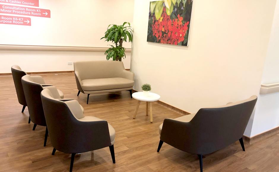 Alexandra Hospital - Alexandra Road | Product Seen: [Cullen 1–Seater Sofa, Cullen 2–Seater Sofa & Laminate Table Top + Acer Coffee Table Leg – Customisable]