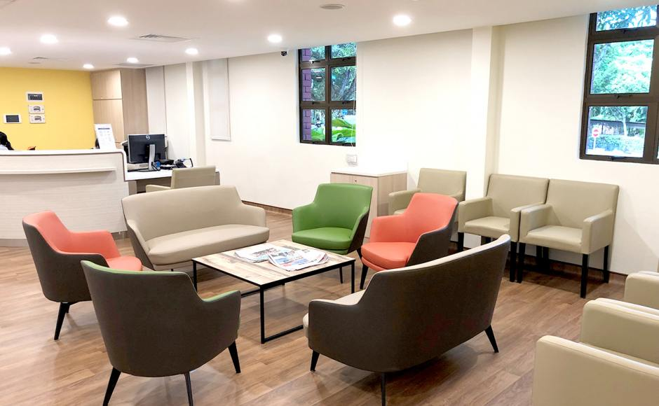 Alexandra Hospital - Alexandra Road | Product Seen: [Jovita Arm chair, Cullen 1–Seater Sofa, Cullen 2–Seater Sofa & Laminate Table Top + Acer Coffee Table Leg – Customisable]