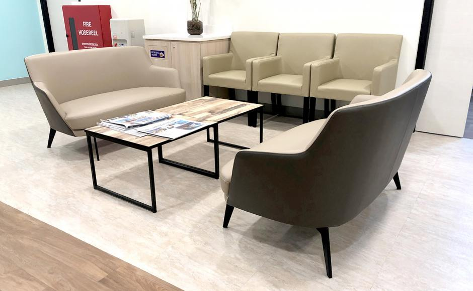 Alexandra Hospital - Alexandra Road | Product Seen: [Jovita Arm chair, Cullen 2–Seater Sofa & Laminate Table Top + Acer Coffee Table Leg – Customisable]