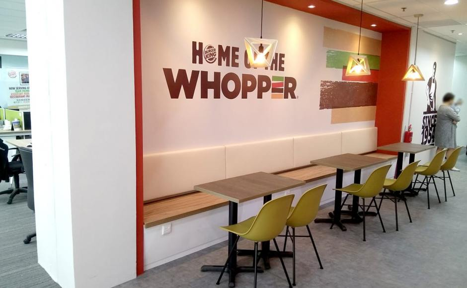 Burger King Singapore HQ | Product Seen: [Adik – Steel Chair & Customised Tabletop + Filo Table Base - V2]