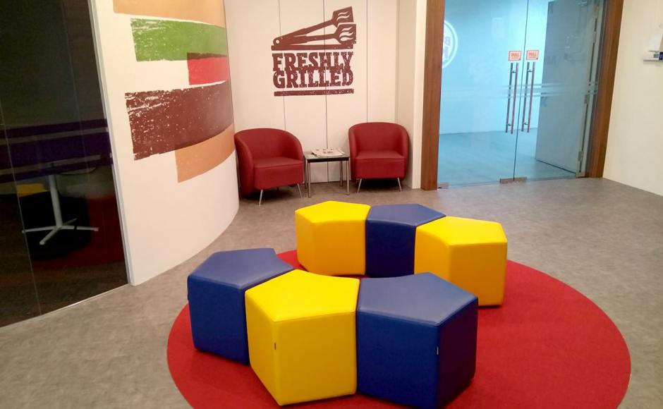 Burger King Singapore HQ | Product Seen: [Seed Modular Stool]