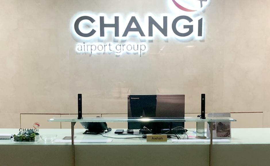 Changi Airport Group | Product Seen: [Comfort Acrylic Shield - W1200]