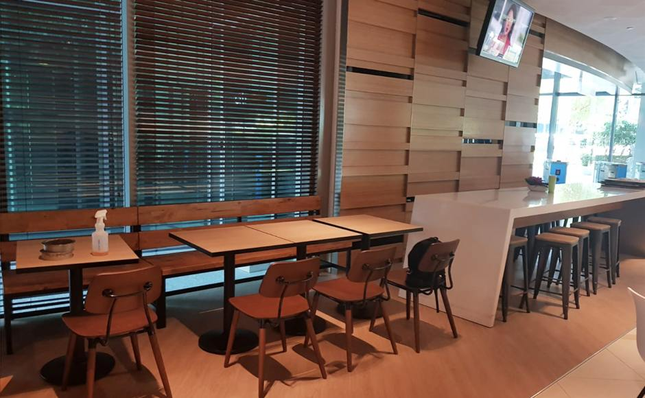 Citibank Citi Cafe - Changi South | Product Seen: [Customised Table top + Cosson Table Base, Pollen Sidechair & Dojo Barstool SH650 – Wood Seat]